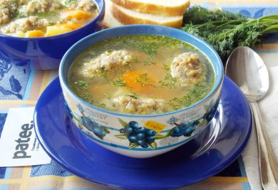 Рецепт Куриный суп с гречневыми клецками