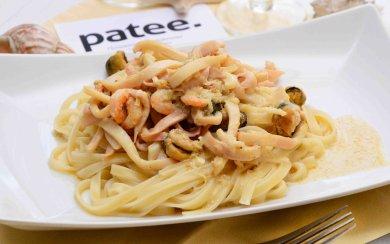 Рецепт Спагетти с морепродуктами в сливочном соусе