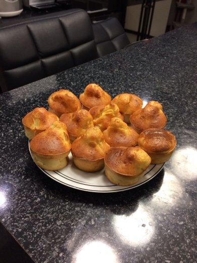 Рецепт Диетические творожные кексы с хурмой