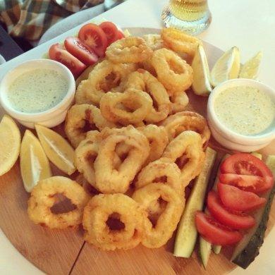 Рецепт Кольца кальмара в кляре