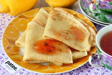 Рецепт Заварные лимонные блины