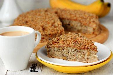Рецепт Банановый торт с орехами
