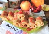 Блинчики с карамельно-фруктовой начинкой