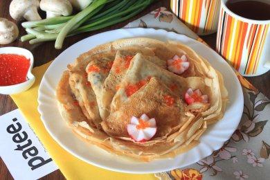Рецепт Блины с грибным припеком и сыром