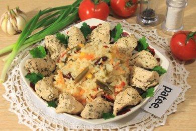 Рецепт Курица с рисом и мексиканской смесью в мультиварке — рецепт для мультиварки