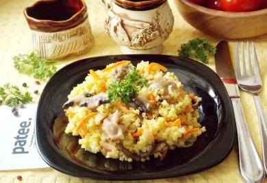 Рецепт Пшенная каша с куриными желудками в мультиварке — рецепт для мультиварки