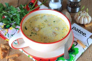 Рецепт Сливочный суп с фрикадельками