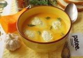 Тыквенный суп-пюре с куриными кнелями