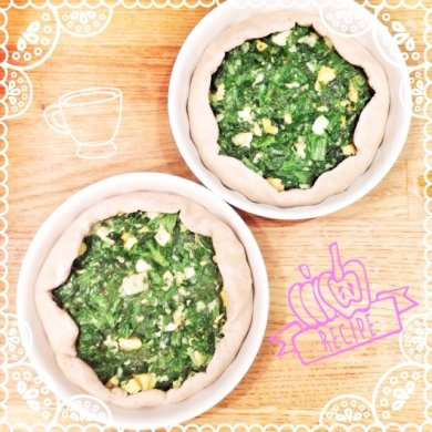 Рецепт Пирог со шпинатом, яйцом и чесноком!
