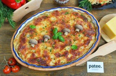 Рецепт Гратен из картофеля с грибами