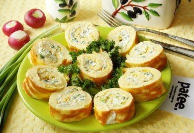 Рецепт Яичный рулет с сыром