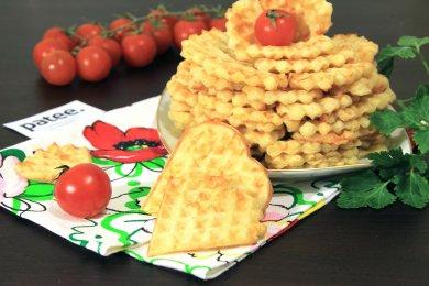 Рецепт Сырные вафли — рецепт для вафельницы
