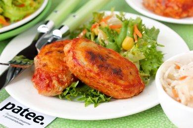Рецепт Куриные биточки с квашеной капустой