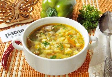 Рецепт Немецкий суп с куриными потрошками и клецками