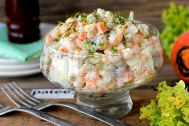 Рецепт Салат с солёной сельдью и фасолью
