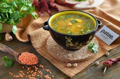 Рецепт Суп из красной чечевицы с нутом