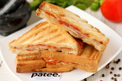 Рецепт Сэндвичи-гриль с ветчиной и помидорами