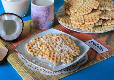 Рецепт Кокосовые вафли — рецепт для вафельницы