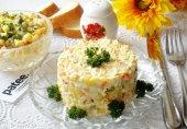 Салат с копчёной куриной грудкой и картофелем