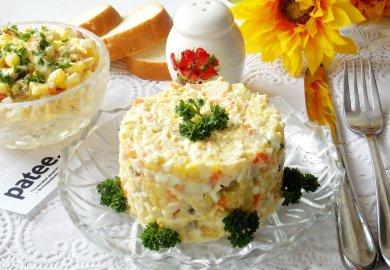 Рецепт Салат с копчёной куриной грудкой и картофелем