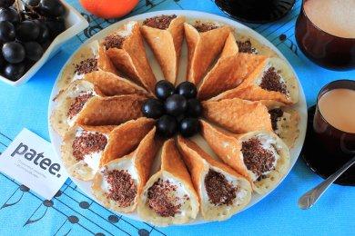 Рецепт Арабские блинчики Катаеф с творожным кремом