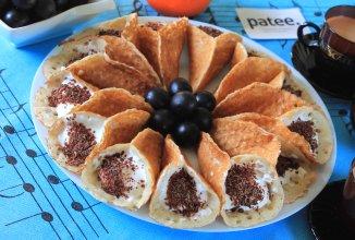 Арабские блинчики Катаеф с творожным кремом - приготовление