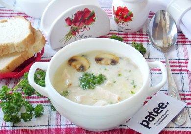 Рецепт Суп-крем с грибами и копченой курицей