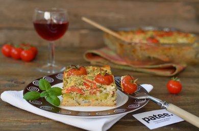 Рецепт  Kolokithopita. Греческий пирог с фетаксой и кабачком на рисовой подушке