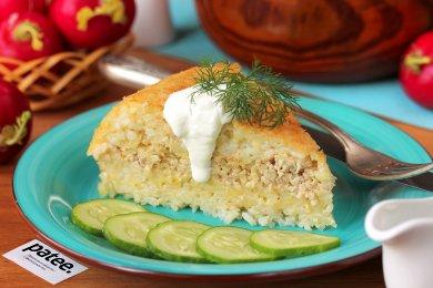 Рецепт Рисовая запеканка с куриным фаршем в мультиварке — рецепт для мультиварки