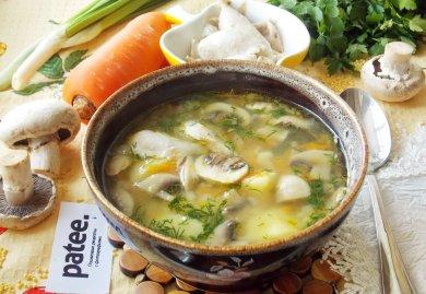Рецепт Куриный суп с пшеном и грибами