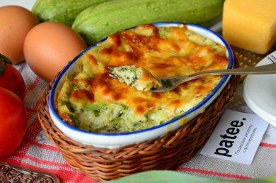 Рецепт Запеканка из кабачков с плавленым и твердым сыром