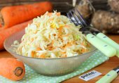 Салат из пекинской капусты с топинамбуром и морковью