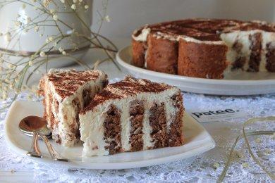 Рецепт Шоколадно-творожный торт Нежность