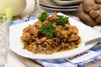 Рецепт Жареное куриное бедро с грибами и фенхелем