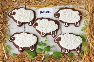 Рецепт Шоколадное печенье Пасхальные барашки