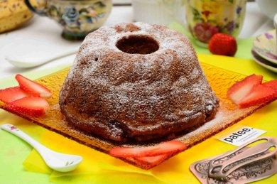 Рецепт Банановый кекс с клубничным джемом