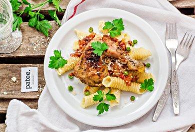 Рецепт Домашняя паста с цыпленком