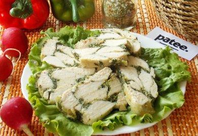 Рецепт Мясной рулет с травами и шпинатом на пару — рецепт для мультиварки