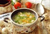 Суп с овсянкой и грибами