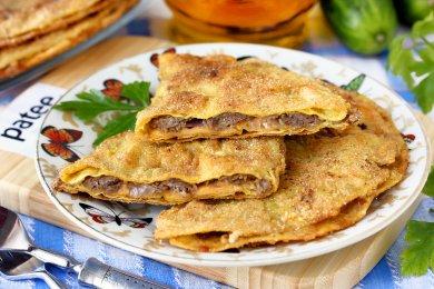 Рецепт Ленивые чебуреки из тортильи