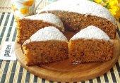 Пирог на вареном сгущенном молоке с орехами