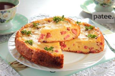 Рецепт Заливной пирог с сыром и сосисками в мультиварке — рецепт для мультиварки