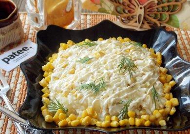 Рецепт Салат с куриной грудкой, ананасом и рисом
