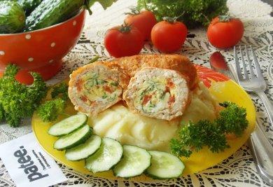 Рецепт Мясные зразы с омлетом в соусе