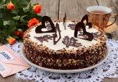 Торт шоколадно-пудинговый
