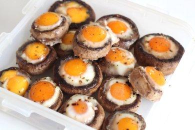 Рецепт Грибы запеченные с яйцами