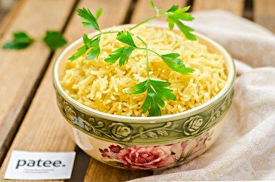 Рецепт Отварной рис с шафраном