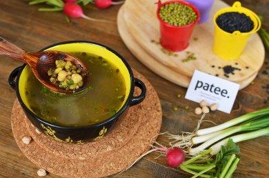 Рецепт Чечевичный суп с нутом и машем