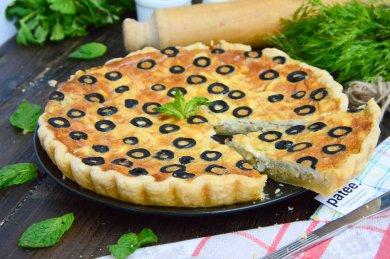 Рецепт Луковый киш с маслинами