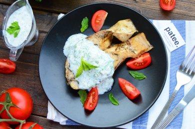 Рецепт Толстолобик запеченный в духовке под соусом из йогурта